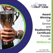 We are Award Winning Car Service and Roadworthy Certificate Provider