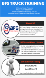 Get All Class Truck Licence with BFS Truck Training