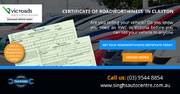 Reliable Roadworthy Certificate in Oakleigh: Call Now