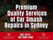 Premium Quality Services of Car Smash Repairs in Sydney
