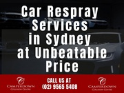 Car Respray Services in Sydney at Unbeatable Price